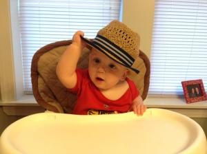 Sam's new hat